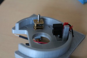 Support médian, avec moteur et interrupteur optique