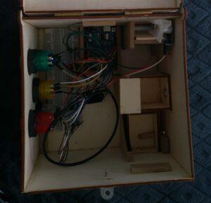 Photo de l'intérieur de la puzzle box